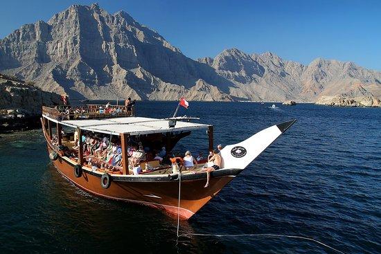 Dubai Desert Tours: boat pic in oman musandam dibba tour from dubai