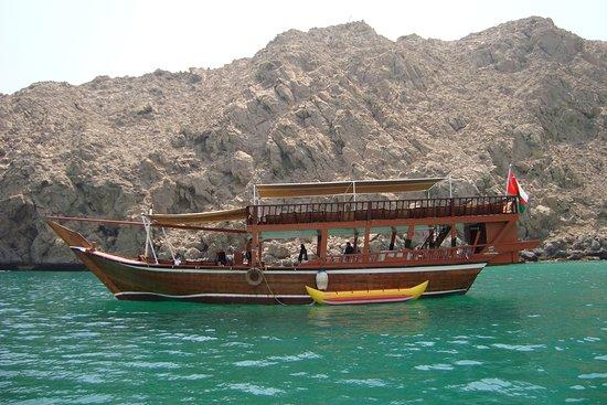 Dubai Desert Tours: Traditional Arabian Boat oman musandam dibba tour
