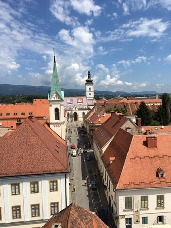 Lotrščak Tower: View from the Tower to St Marks
