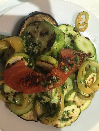 Bigova, Czarnogóra: Grilled vegetables