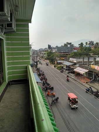 Dharan, Nepal: View from Open Balcony to the Left.