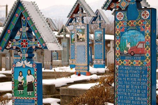 Merry Cemetery in northwestern Romania