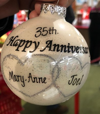 One of the ornaments we bought.