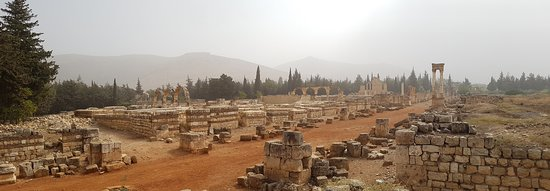 Anjar, Líbano: View of the site from the South