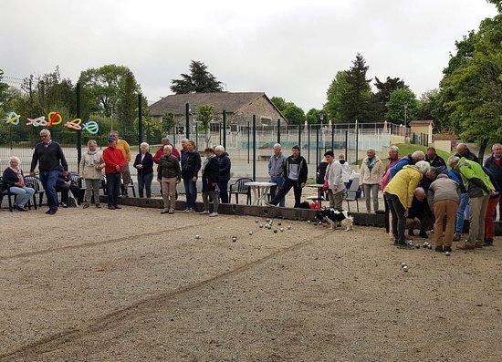 Montbron, France: Jeux de boules