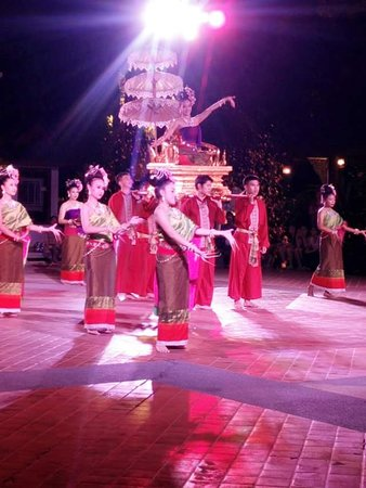 Nail Dancing. Thai Northern cultural shows.