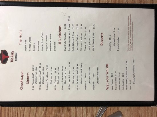 Mount Gilead, OH: menu