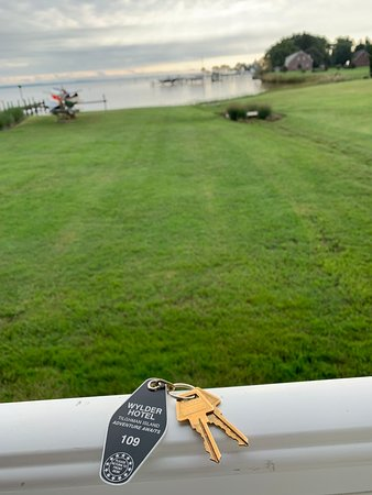 Tilghman, MD: The view from our room with the old style keys