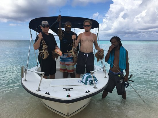 Captain Jimmy Tours: Lots of conch and some big lobster!