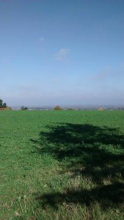 Great Coxwell Barn : View from Badbury Hill.