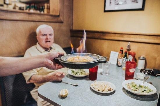 Chef Zorba's Cuisine: Flaming Saganaki