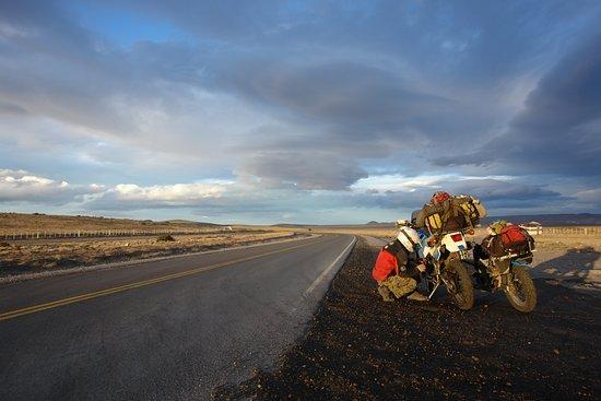 Ruta 40 rumbo a Perito Moreno