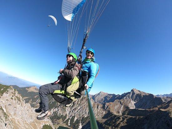 Himmelsritt Tandem Paragliding: ...dem Himmel sehr nahe....