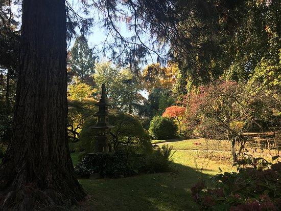 Inormationsschild Am Eingang Zum Japanischen Garten In Leverkusen