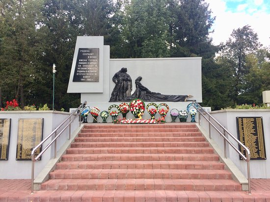 Pinsk, Weißrussland: Вечный огонь, братская могила.