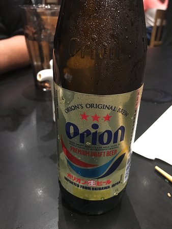 Izakaya Matsu: Orion, Japanese beer, first time seeing this brand