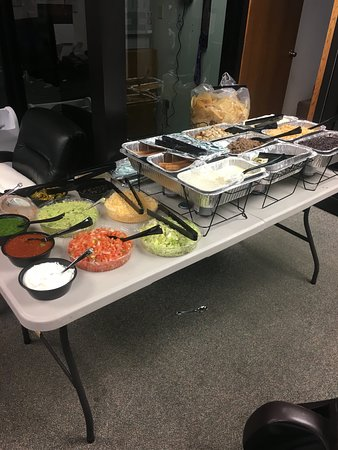 Catering at a job site!  Anytime Anywhere