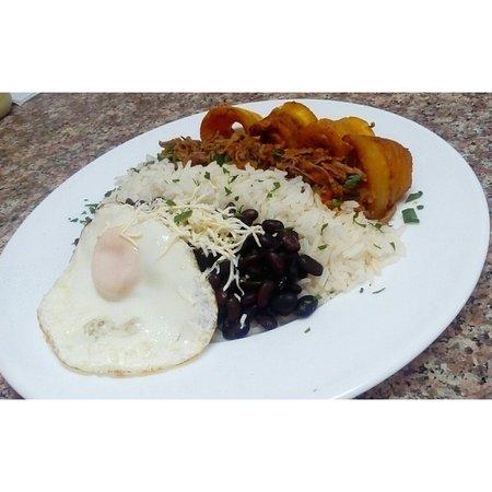Tradicional Pabellón Criollo. Maravilla gastronómica Venezolana.