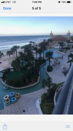 View from Balcony- Lazy River