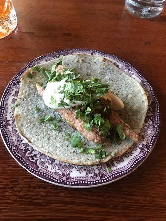 This is the smelt taco. The taste was good and every bite was flavorful and balanced.