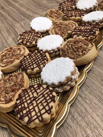 garabatos y galletas de nuez