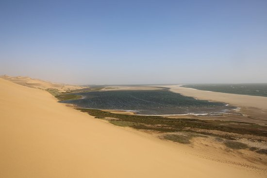 Sandwich Harbour- Guided Self-Drive Tour from Walvis Bay: Sandwich from the dune