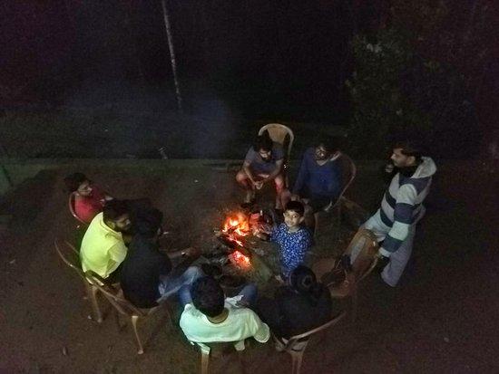 Bamboo Dale: camp fire