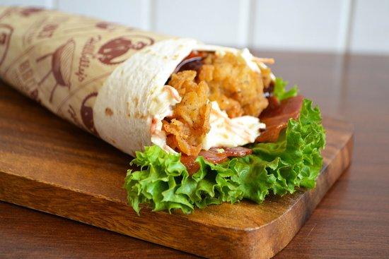 BBQ BLT  Chicken Wrap