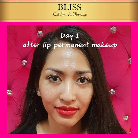 lip semi-permanent makeup - Picture of Bliss Nail Spa & Massage