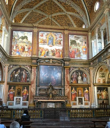 partition wall behind altar