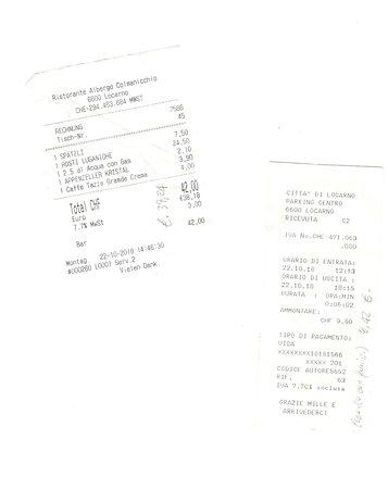 Cardada, Schweiz: * Es. piatti e prezzi, nonché prova di esserci stati davvero ! *