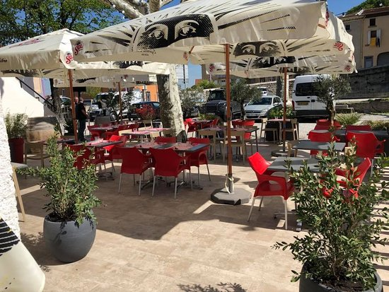 Chateauneuf-sur-Isere, Francja: Terrasse