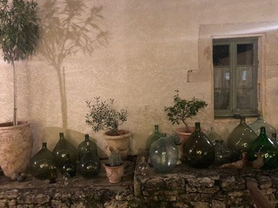 Chantemerle-les-Grignan, France: Ten green bottles at dusk...