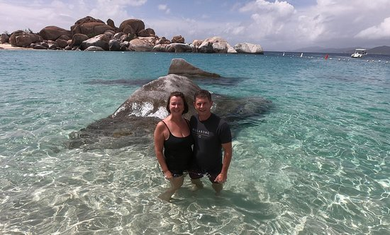 Palm Tree Charters: Just outside the Baths at Virgin Gorda, BVI