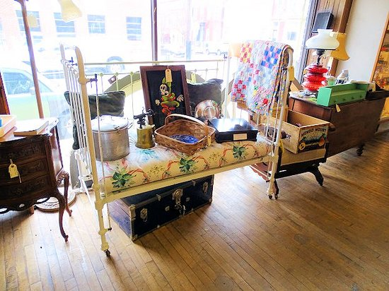 Burning Bridges Antiques Market: inside