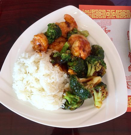 Dallas, PA: Shrimp with Broccoli
