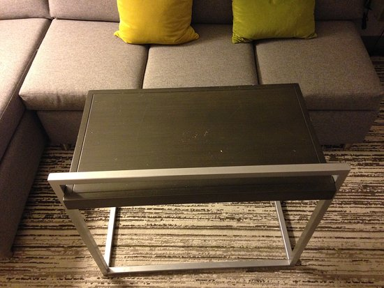 Hebron, KY: Modern moveable table made a great bedside table!