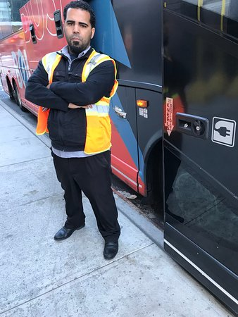 Bolt Bus: Nasty employee who cusses you out if you ask him for his name/id because he sends u to wrong lin