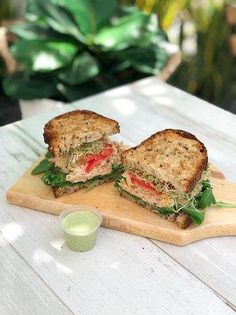 Tuna Sprout Sandwich