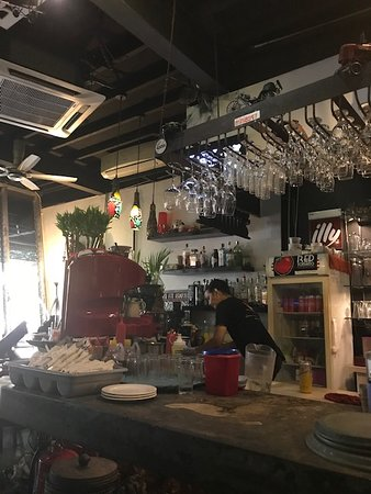 Red Tomato: The coffee station inside the restaurant