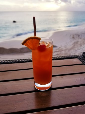 The Reefs: A rum swizzle at the bar at the beach.