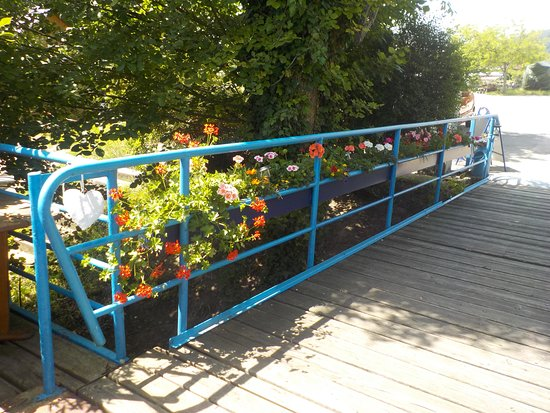 Marbach an der Donau, Østerrike: Blumen schmücken unseren Eingang