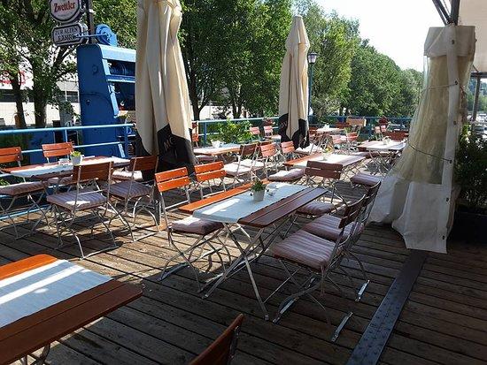 Marbach an der Donau, Østerrike: Unsere Terasse