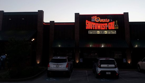 Oasis Southwest Grill of Franklin: Front at sunset