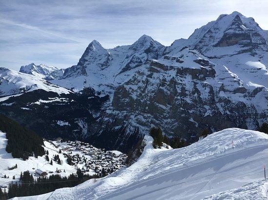 Mürren, Suiza: The three majesties Eiger, Mönch and Jungfrau