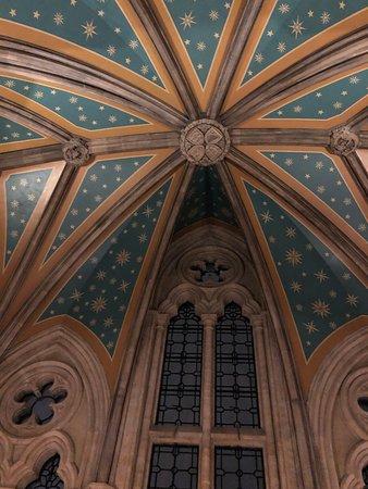 London, UK: Interior ceiling-St. Pancras Hotel