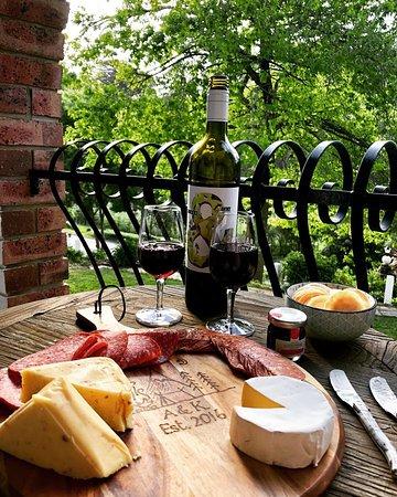 Basket Range, Australia: Enjoying a cheese platter on our balcony