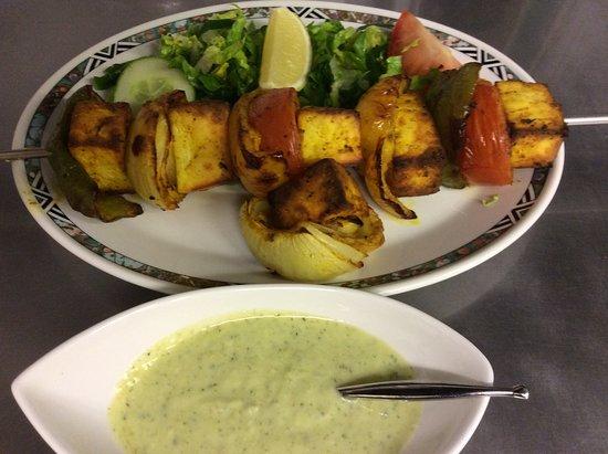 Kolkata Diner: Paneer (cottage cheese) Shashlick