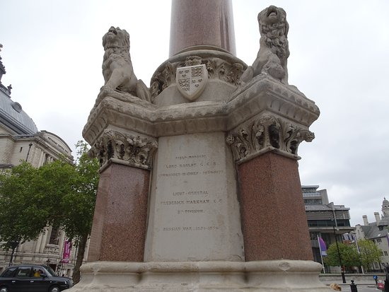 Lions around base of monument