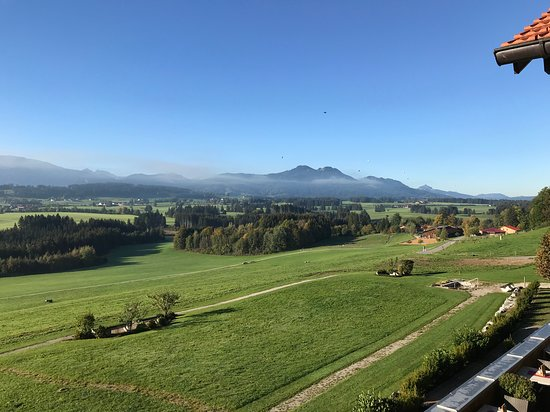 Ruckholz, Germany: Hot air balloons seen from room.